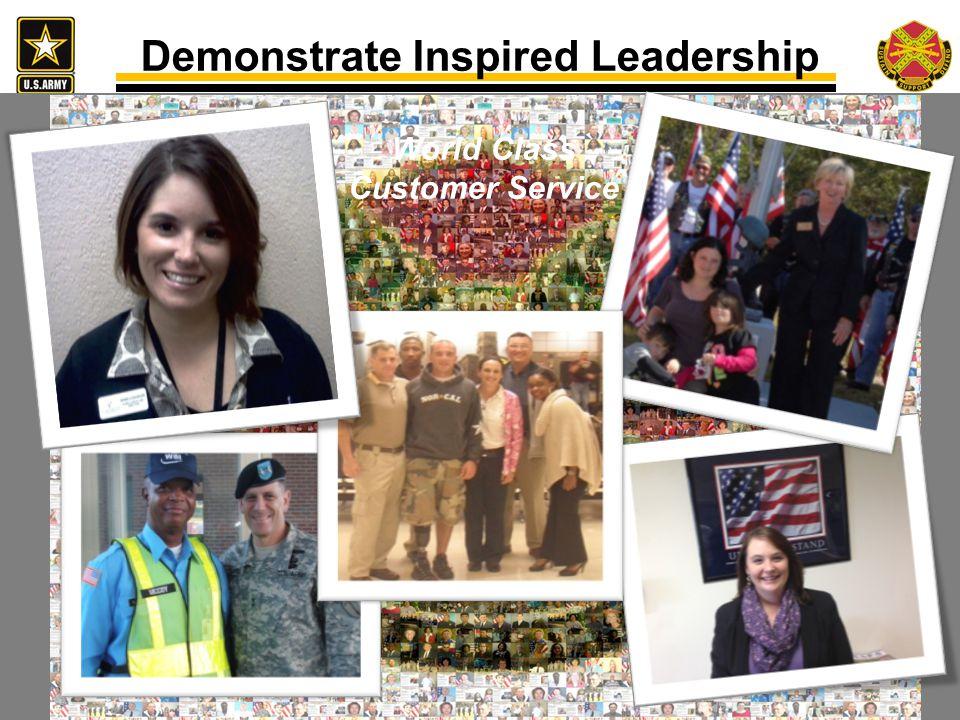 Demonstrate Inspired Leadership World Class Customer Service