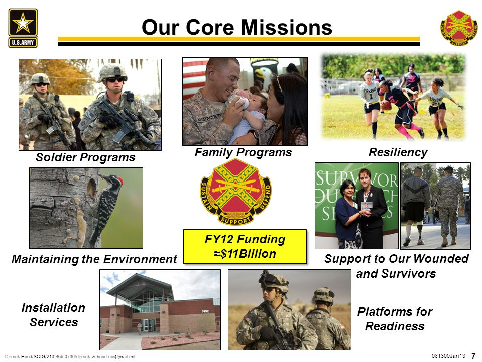 Our Core Missions We break down our missions to 7 major areas
