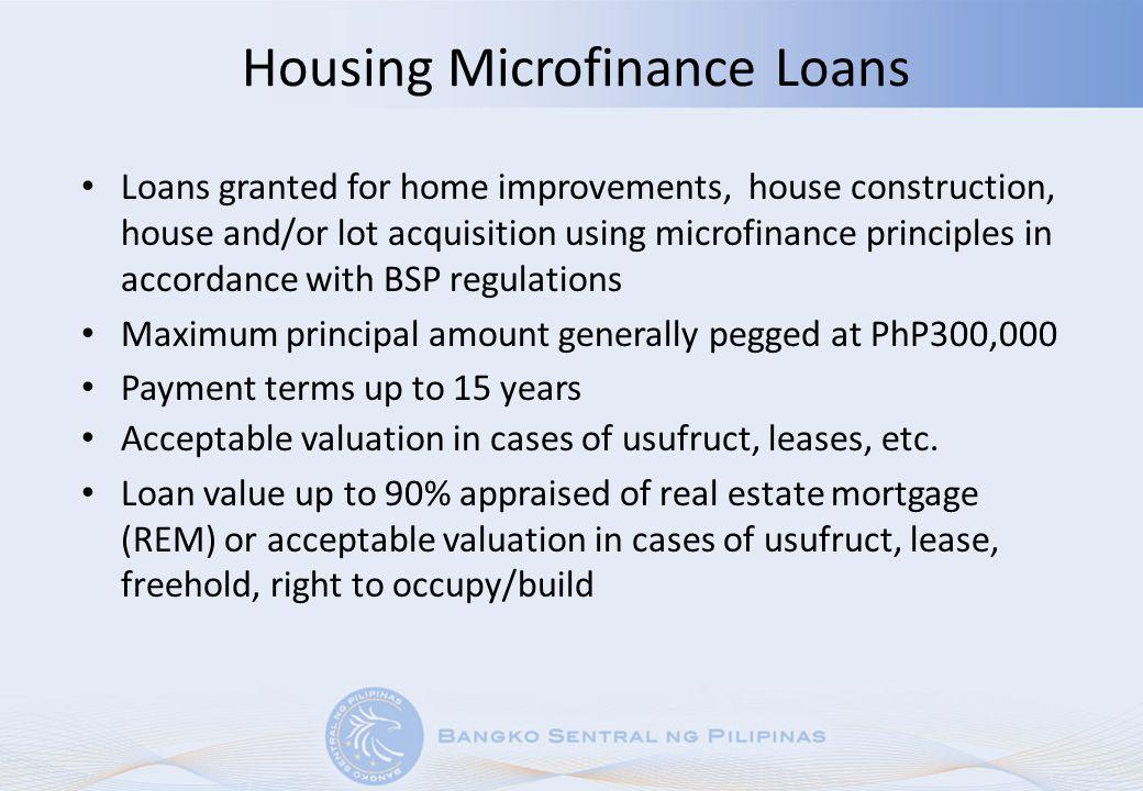 Housing Microfinance Loans