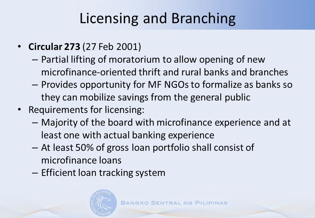 Licensing and Branching