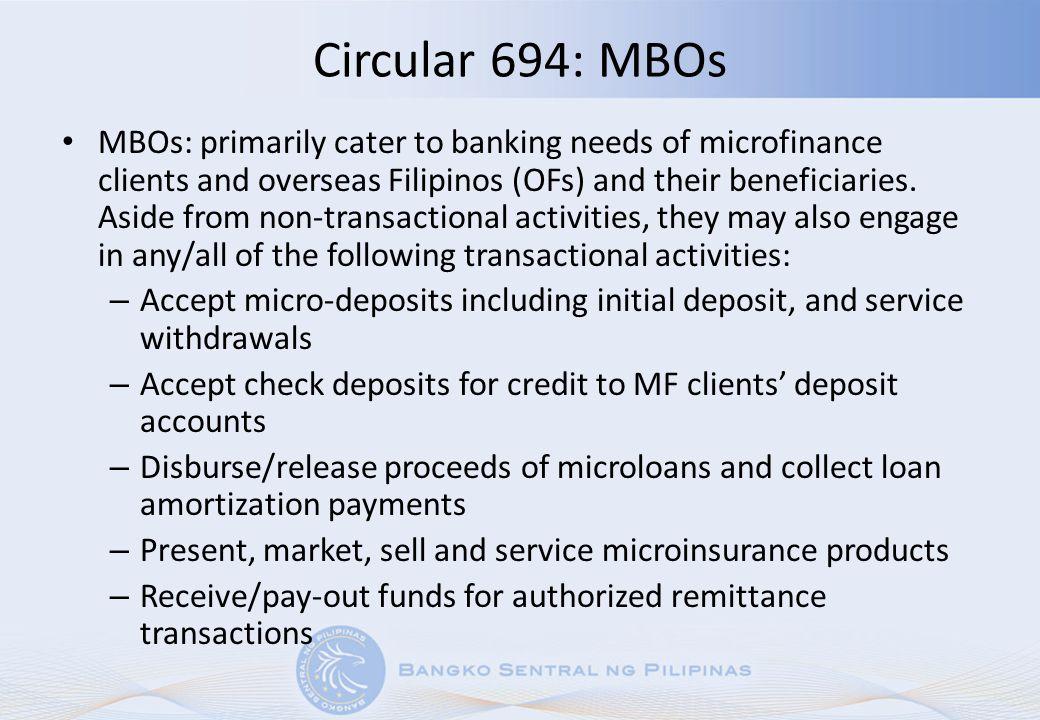 Circular 694: MBOs