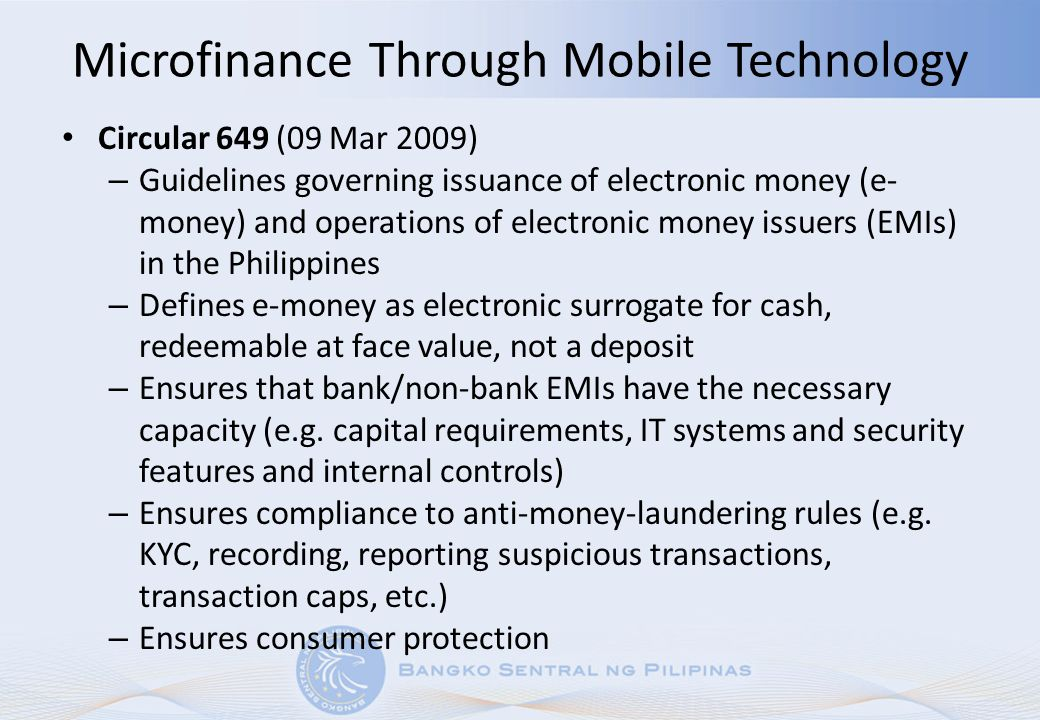 Microfinance Through Mobile Technology
