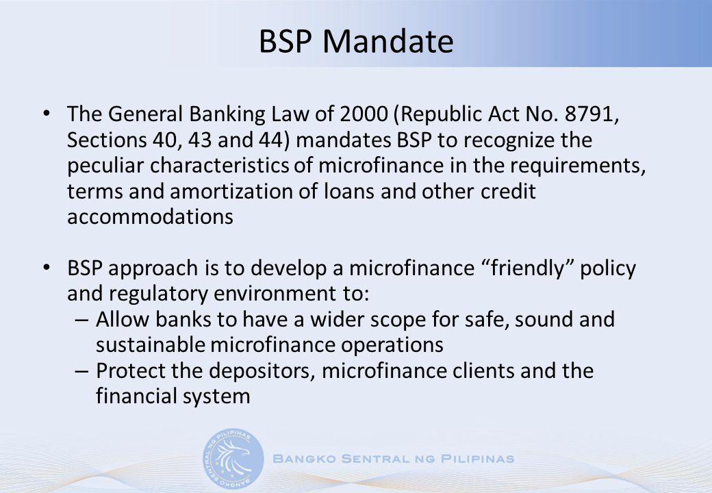 BSP Mandate