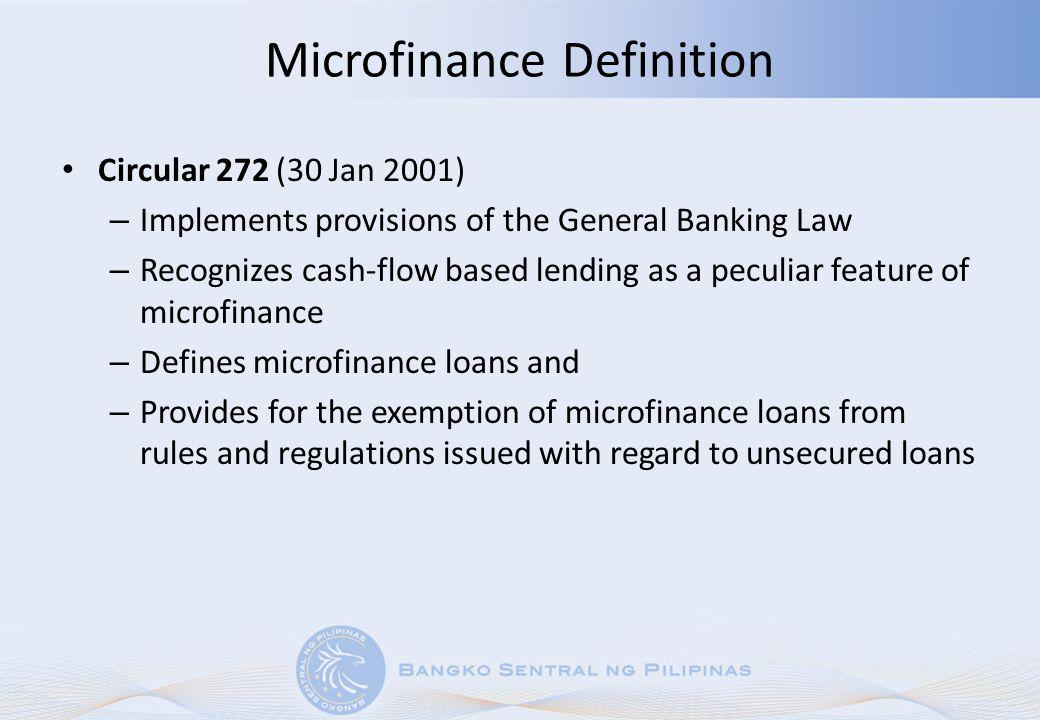 Microfinance Definition