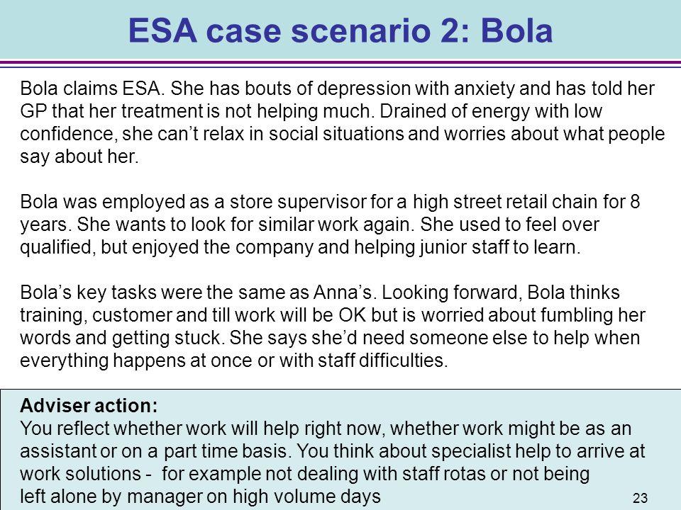 ESA case scenario 2: Bola
