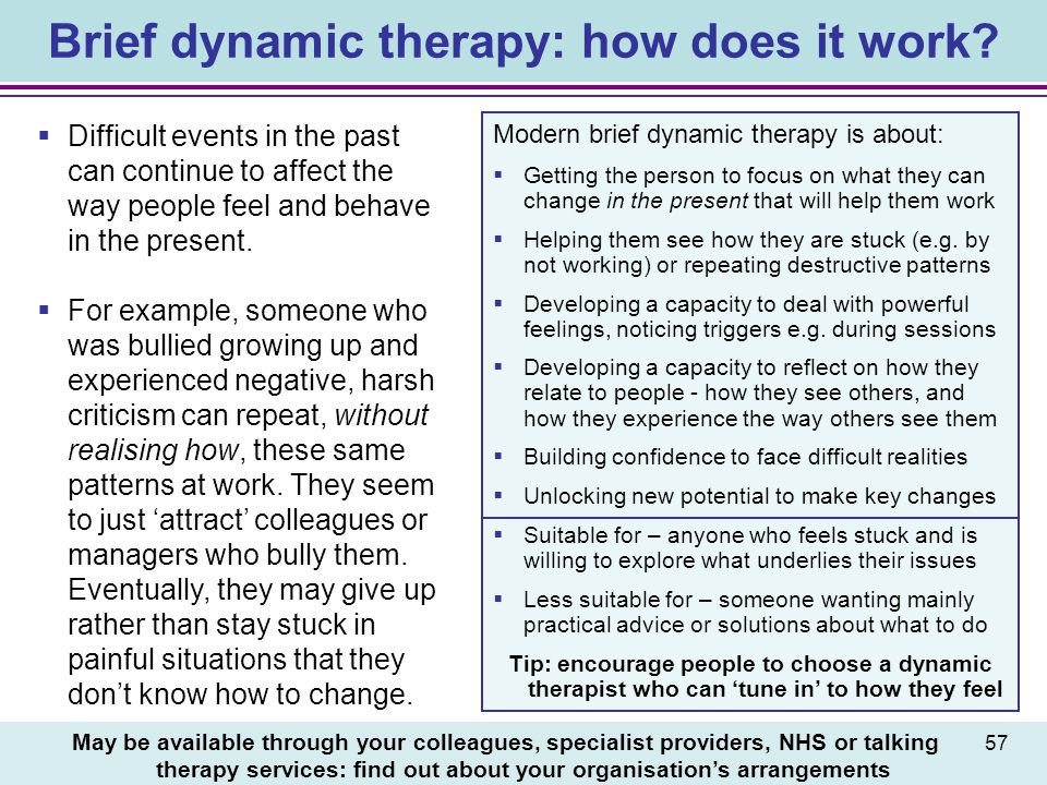Brief dynamic therapy: how does it work