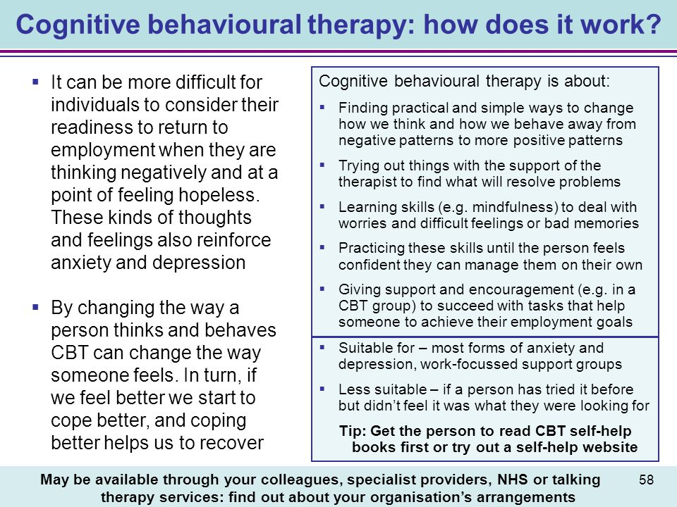 Cognitive behavioural therapy: how does it work