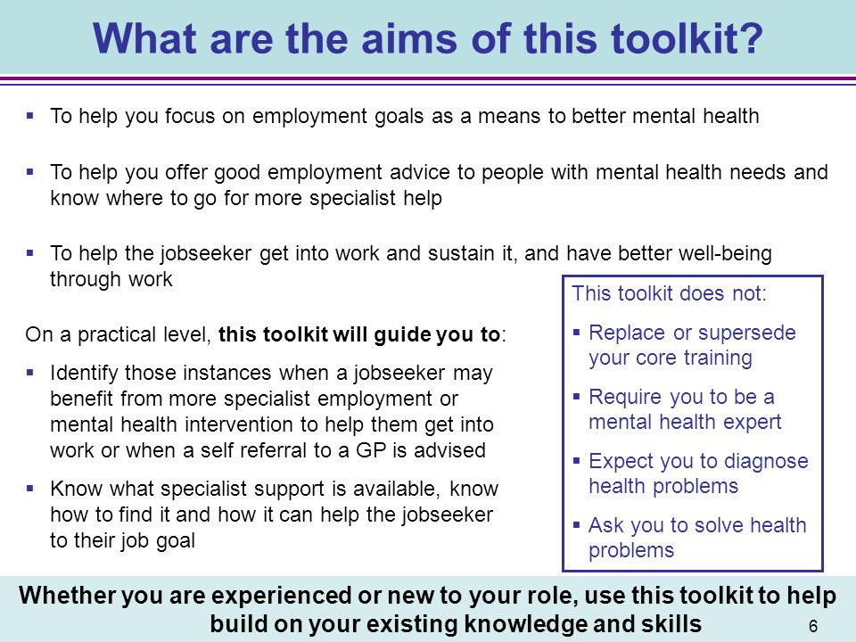What are the aims of this toolkit