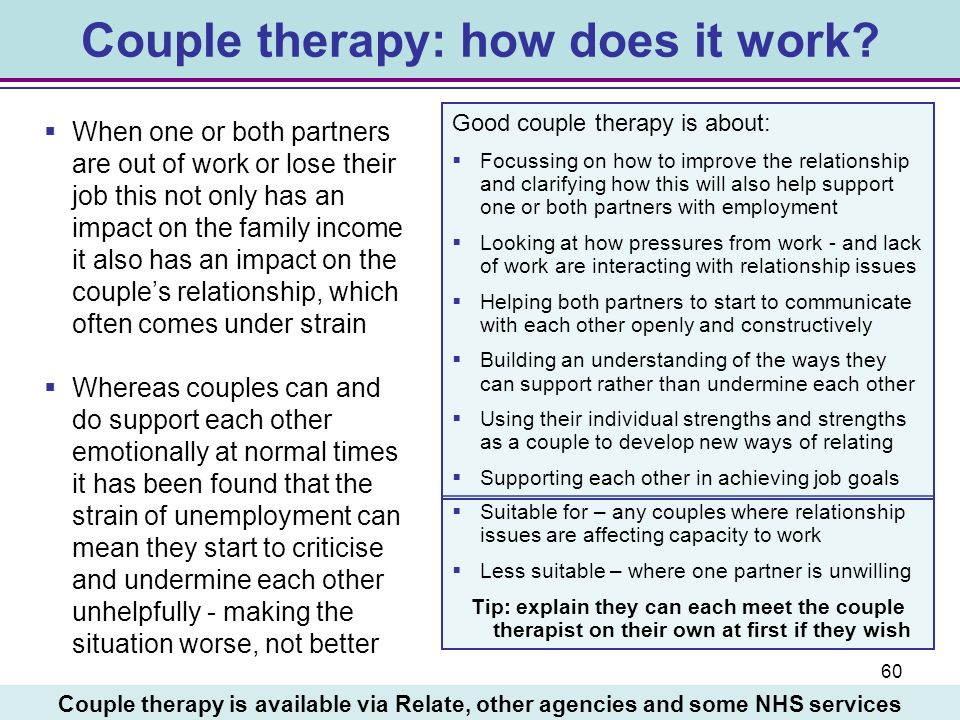 Couple therapy: how does it work