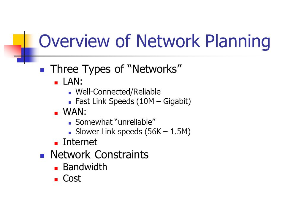 Overview of Network Planning