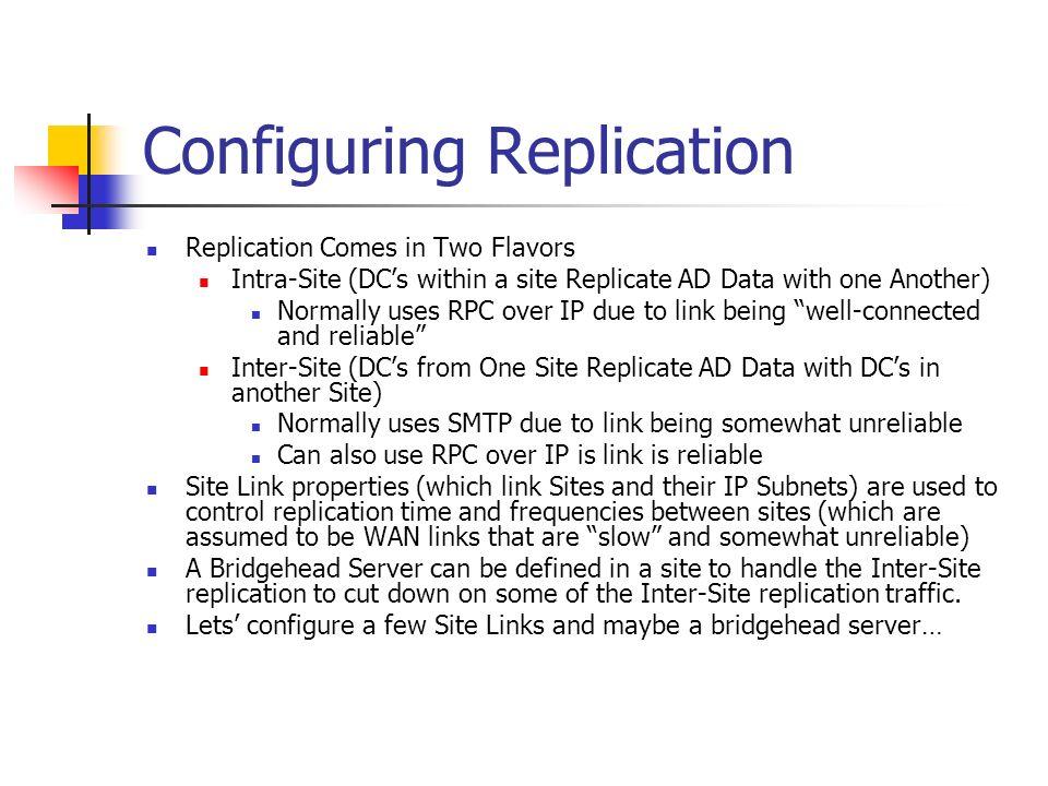 Configuring Replication