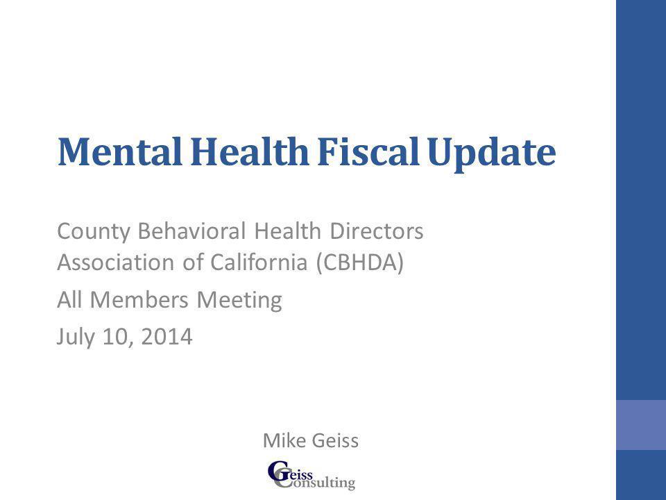 Mental Health Funding