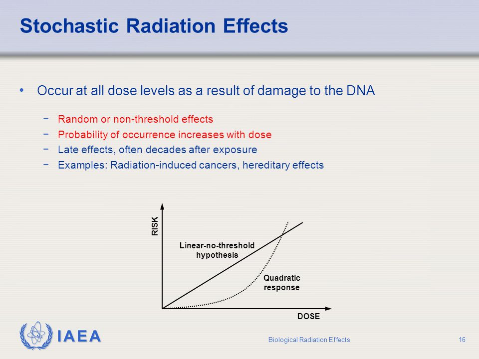Stochastic Radiation Effects