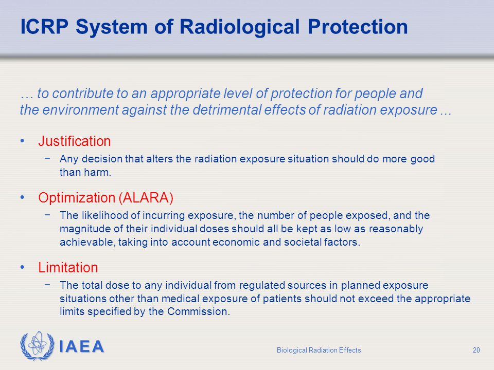 ICRP System of Radiological Protection
