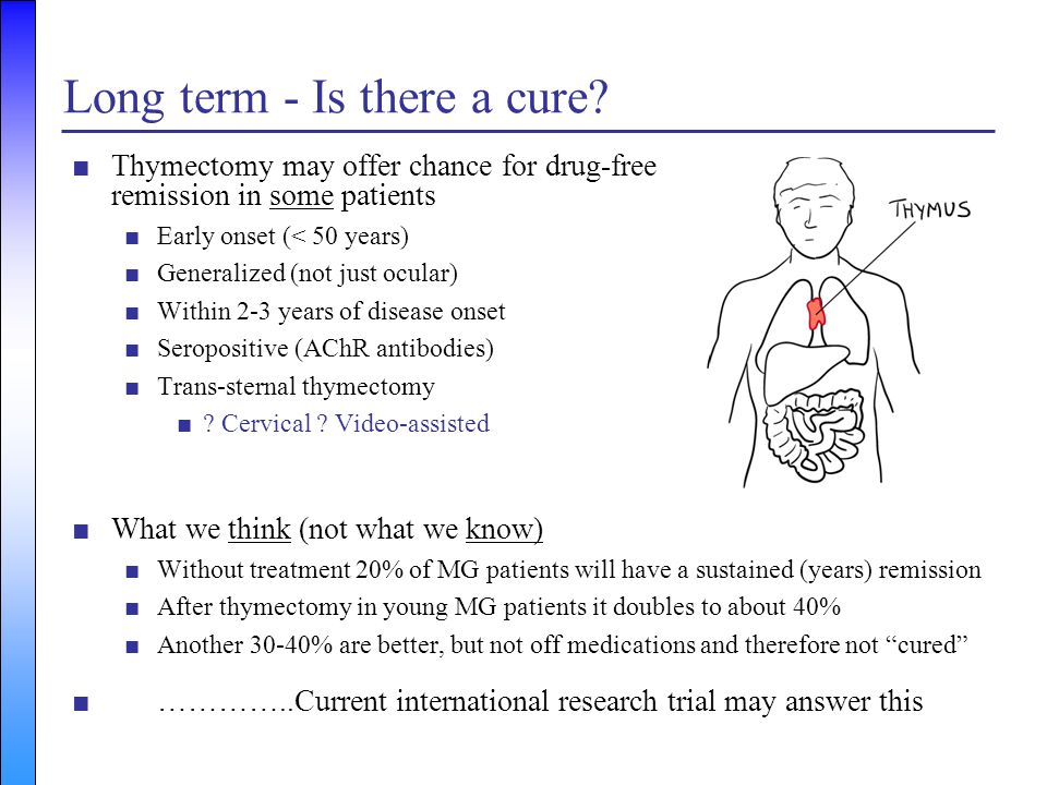 Long term - Is there a cure