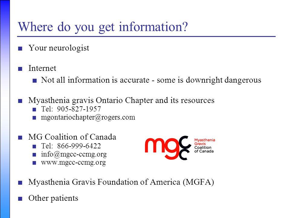 Where do you get information
