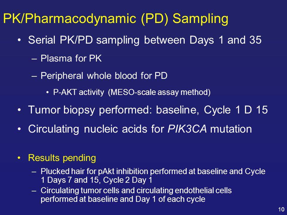 PK/Pharmacodynamic (PD) Sampling