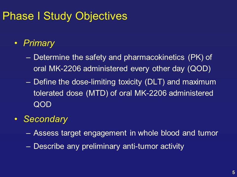 Phase I Study Objectives