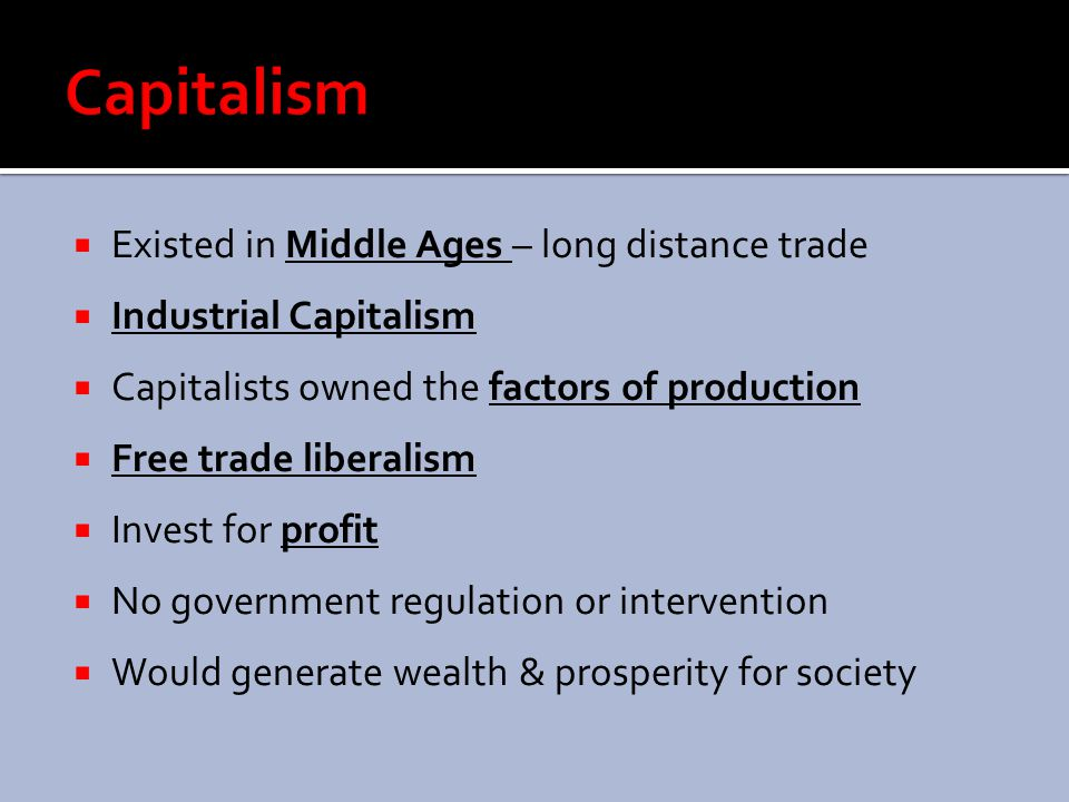 Capitalism Existed in Middle Ages – long distance trade