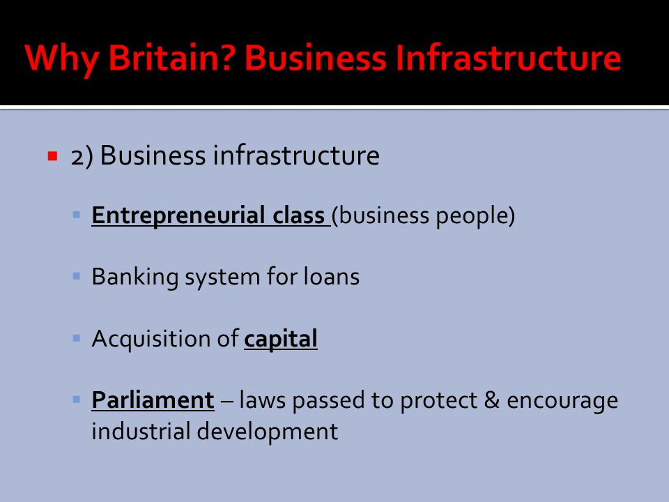 Why Britain Business Infrastructure
