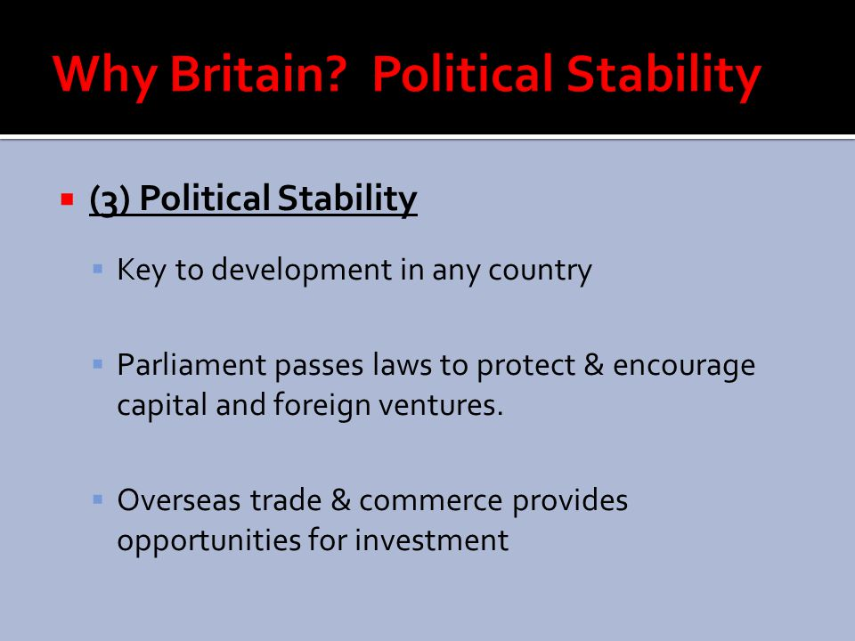 Why Britain Political Stability