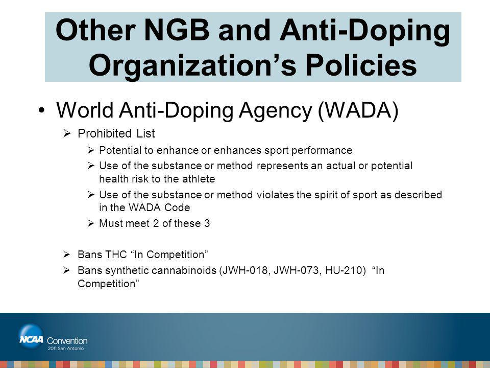 Other NGB and Anti-Doping Organization's Policies