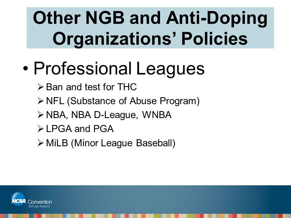 Other NGB and Anti-Doping Organizations' Policies