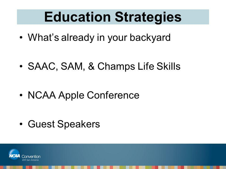 Education Strategies What's already in your backyard