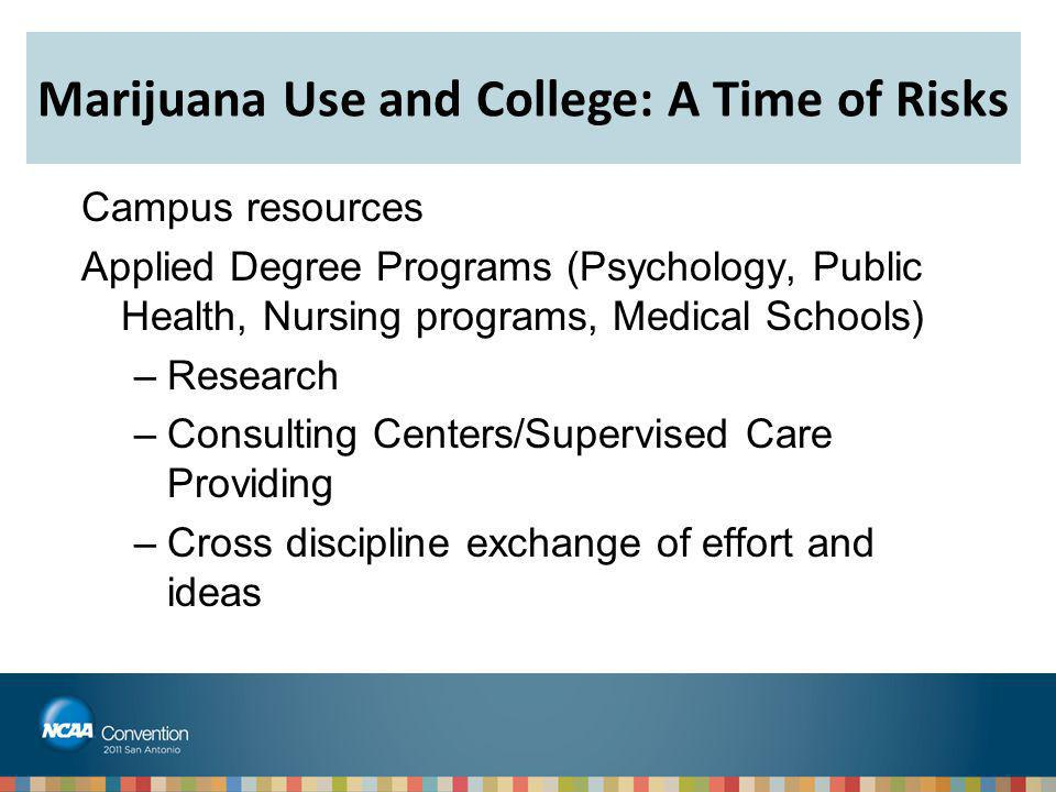 Marijuana Use and College: A Time of Risks