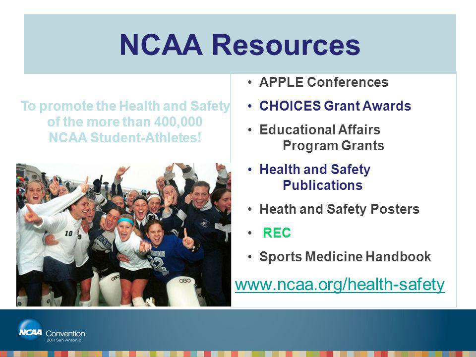 To promote the Health and Safety NCAA Student-Athletes!