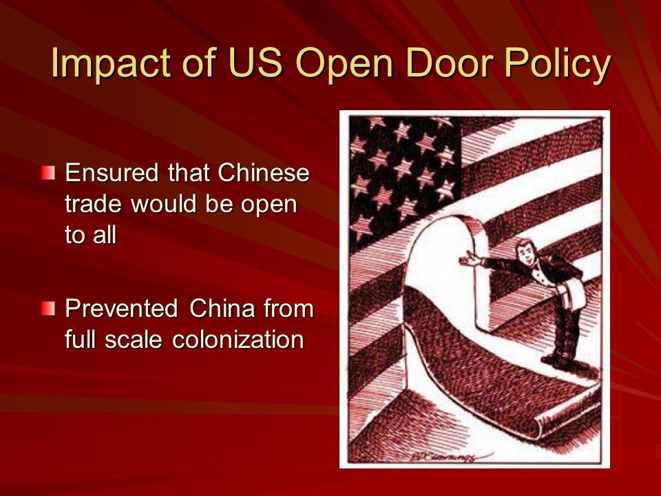 Impact of US Open Door Policy