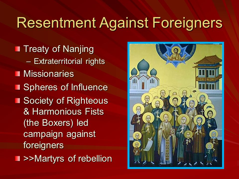 Resentment Against Foreigners