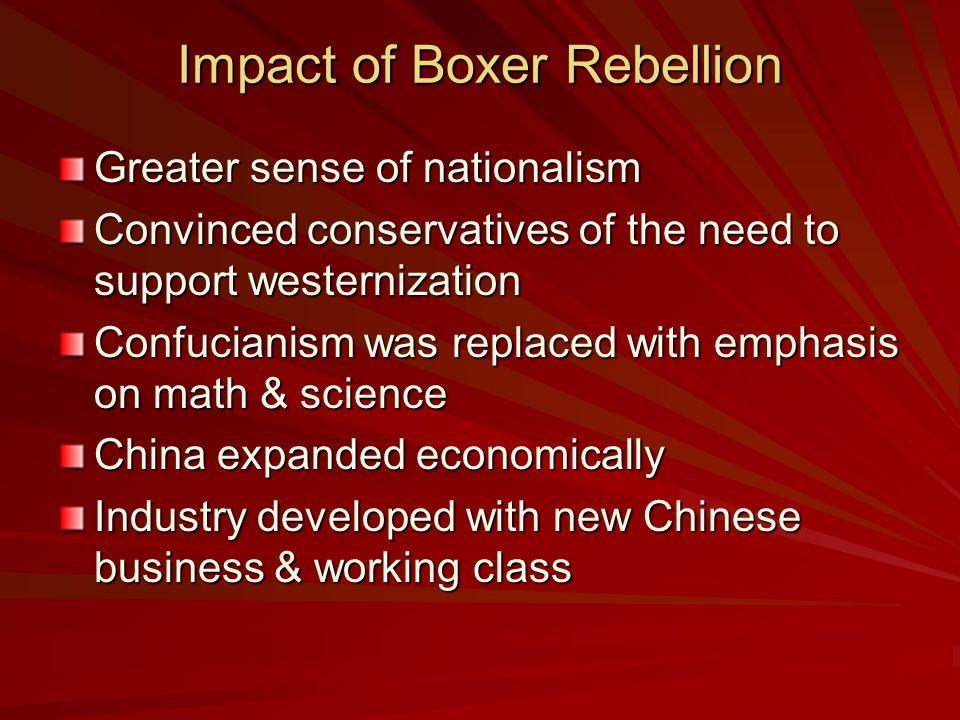Impact of Boxer Rebellion
