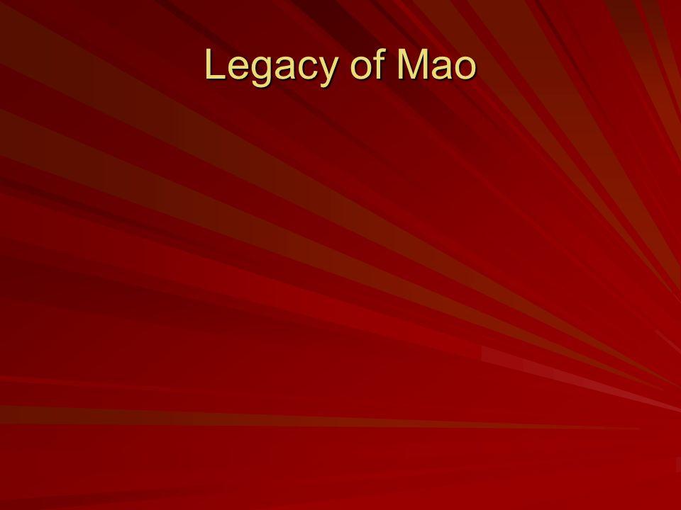 Legacy of Mao