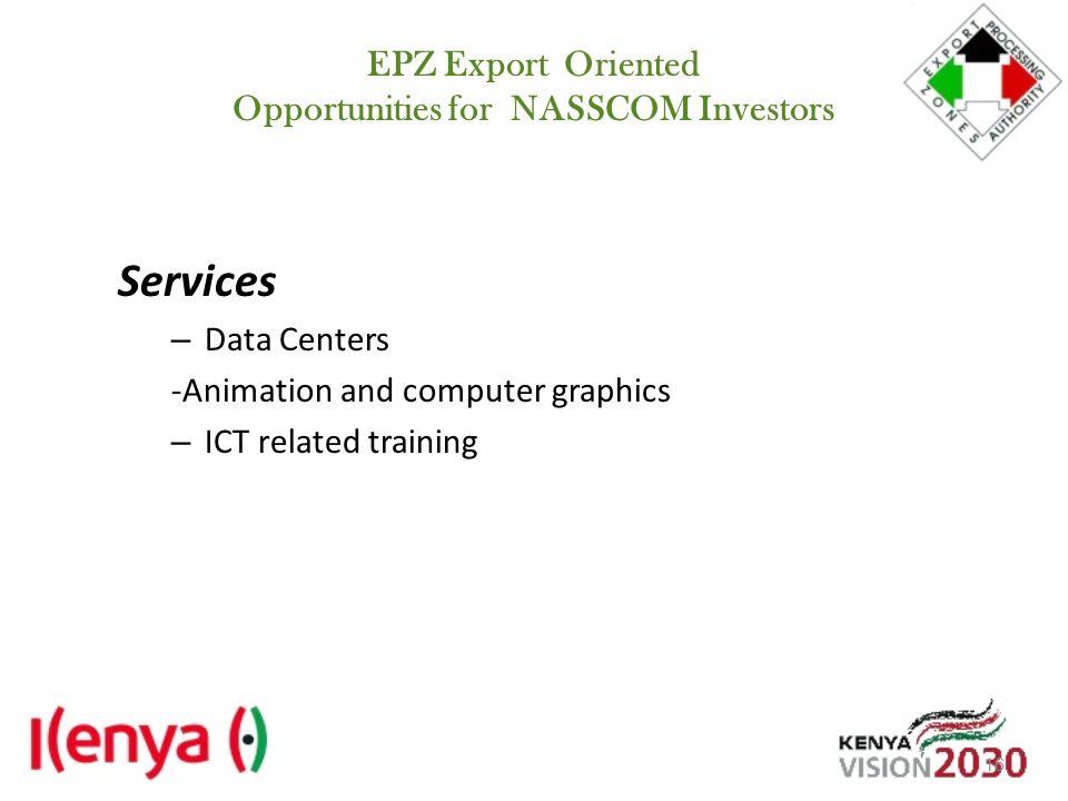 EPZ Export Oriented Opportunities for NASSCOM Investors