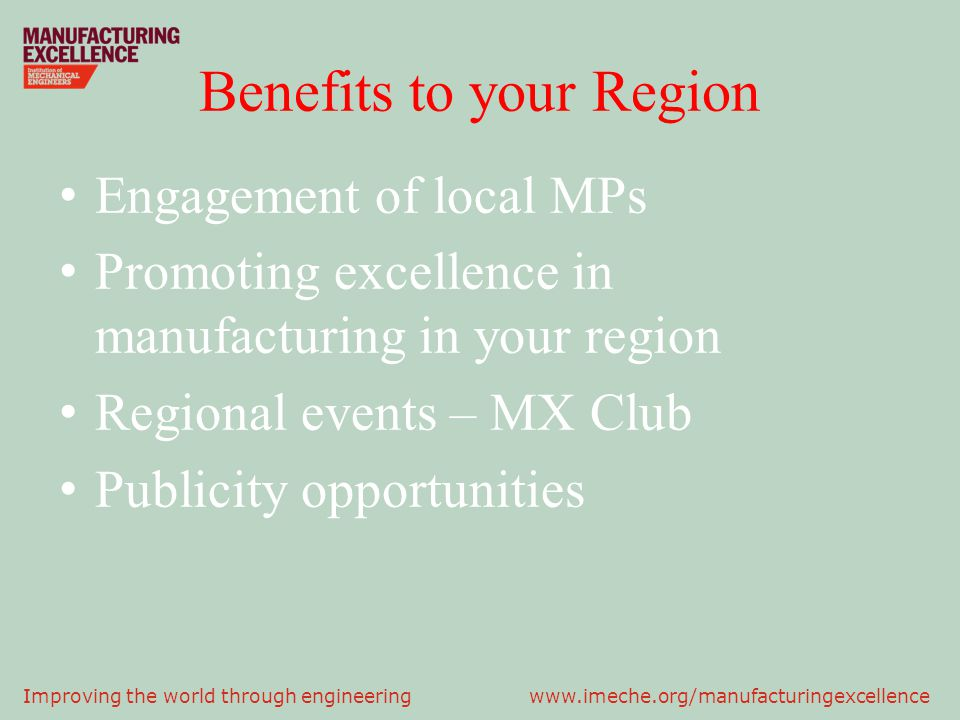 Benefits to your Region