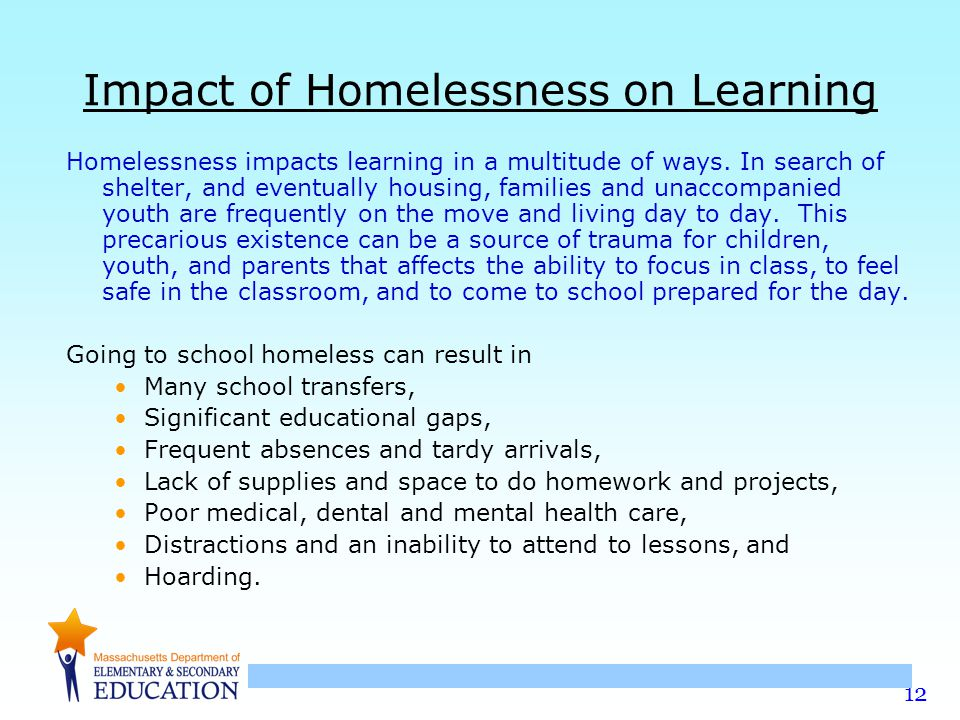 Impact of Homelessness on Learning