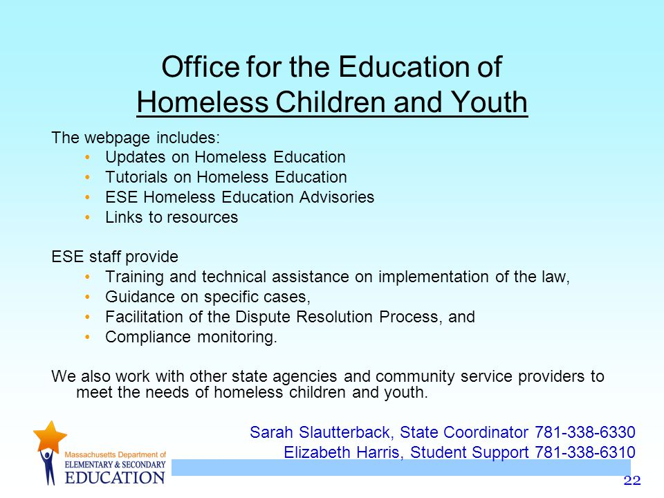 Office for the Education of Homeless Children and Youth