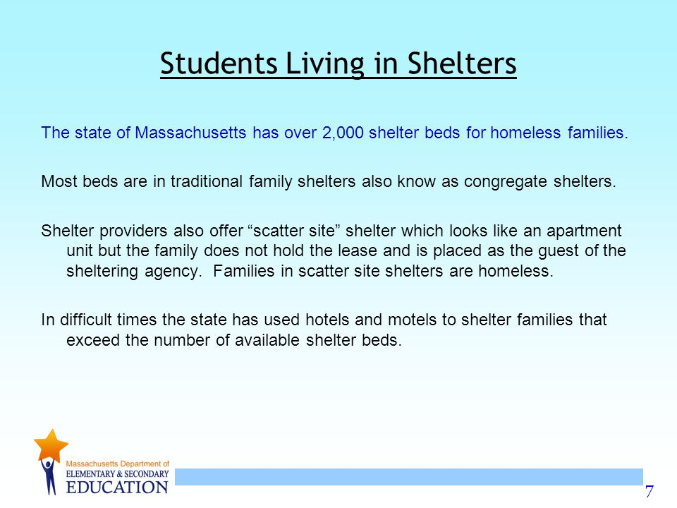Students Living in Shelters