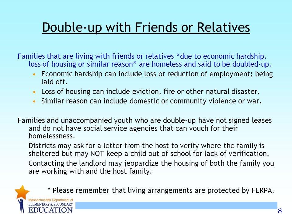 Double-up with Friends or Relatives