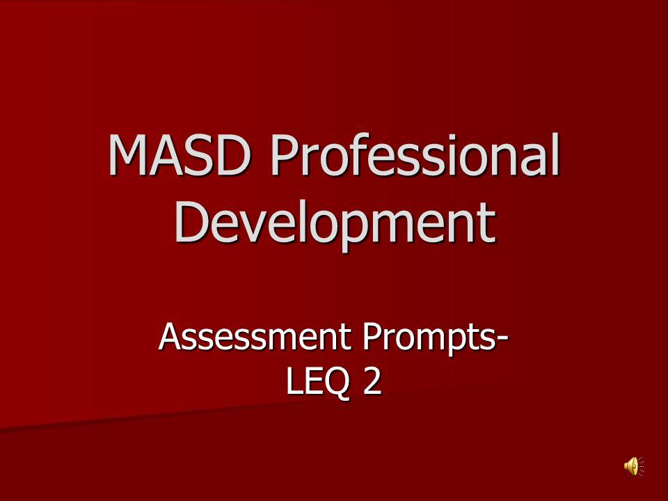 MASD Professional Development