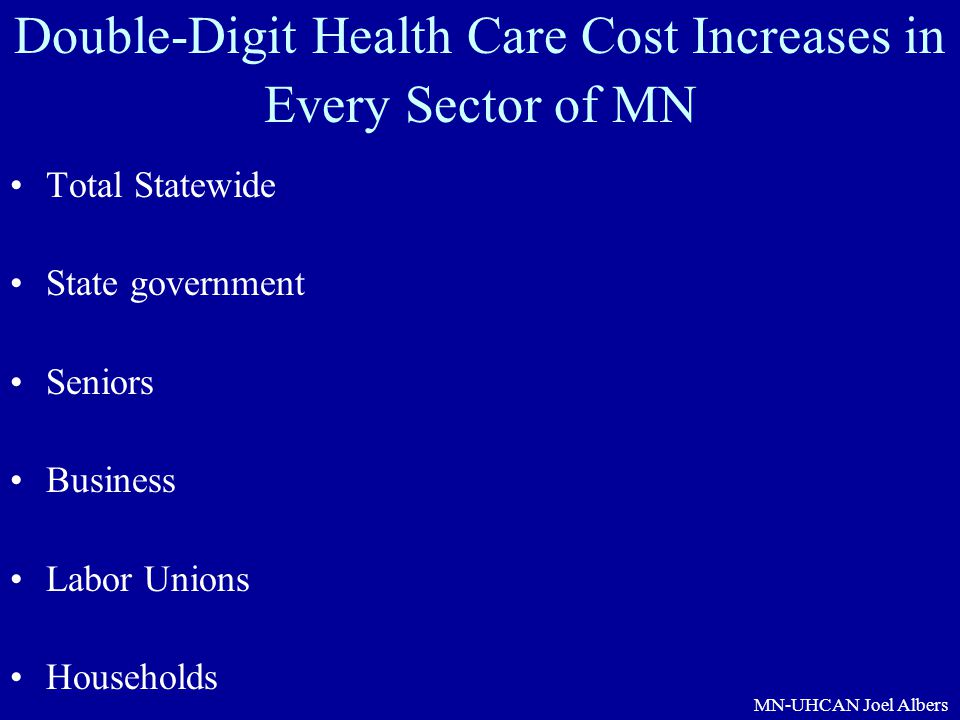 Double-Digit Health Care Cost Increases in Every Sector of MN