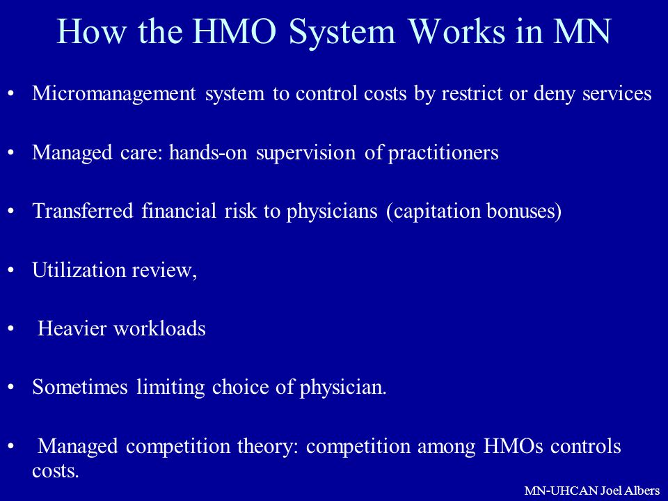 How the HMO System Works in MN