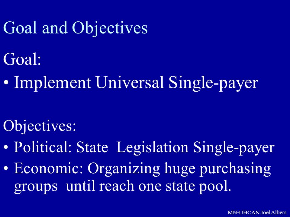 Implement Universal Single-payer