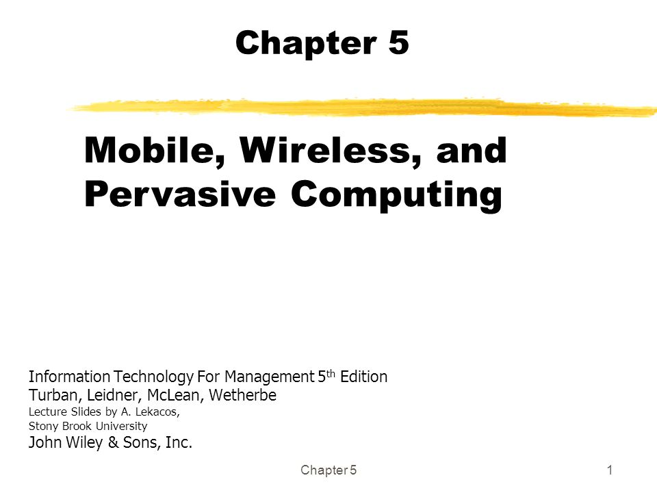 Mobile, Wireless, and Pervasive Computing