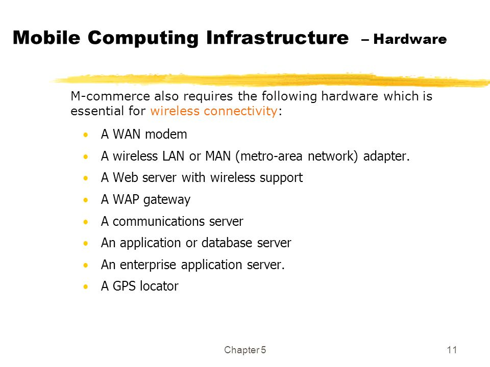 Mobile Computing Infrastructure – Hardware
