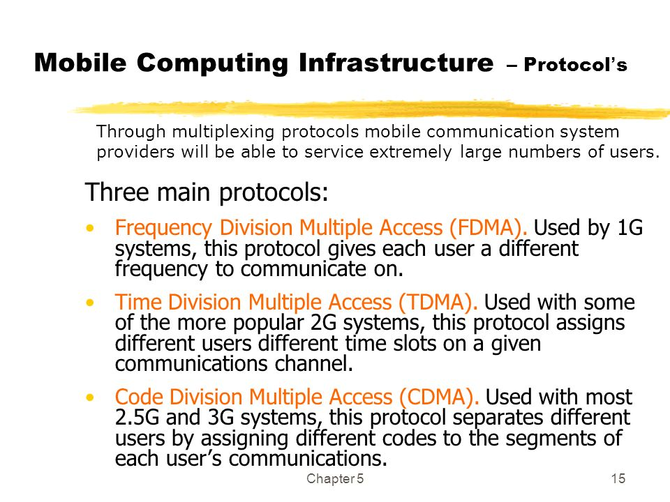 Mobile Computing Infrastructure – Protocol's