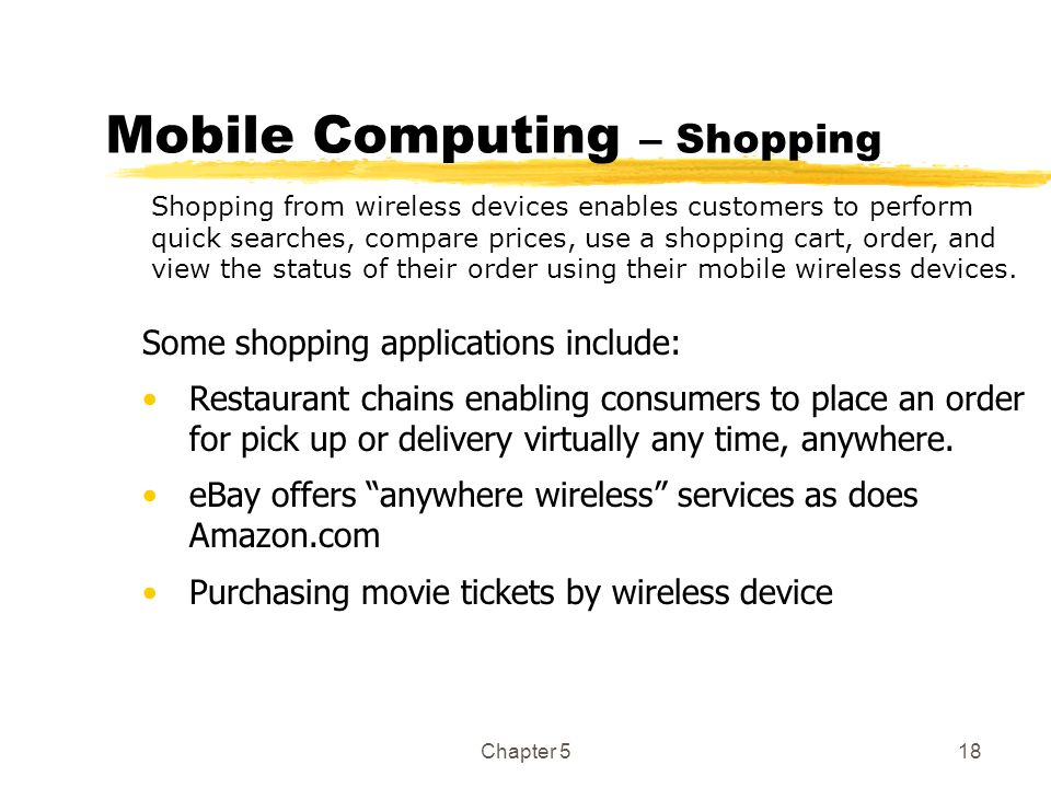 Mobile Computing – Shopping