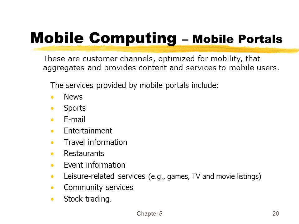 Mobile Computing – Mobile Portals