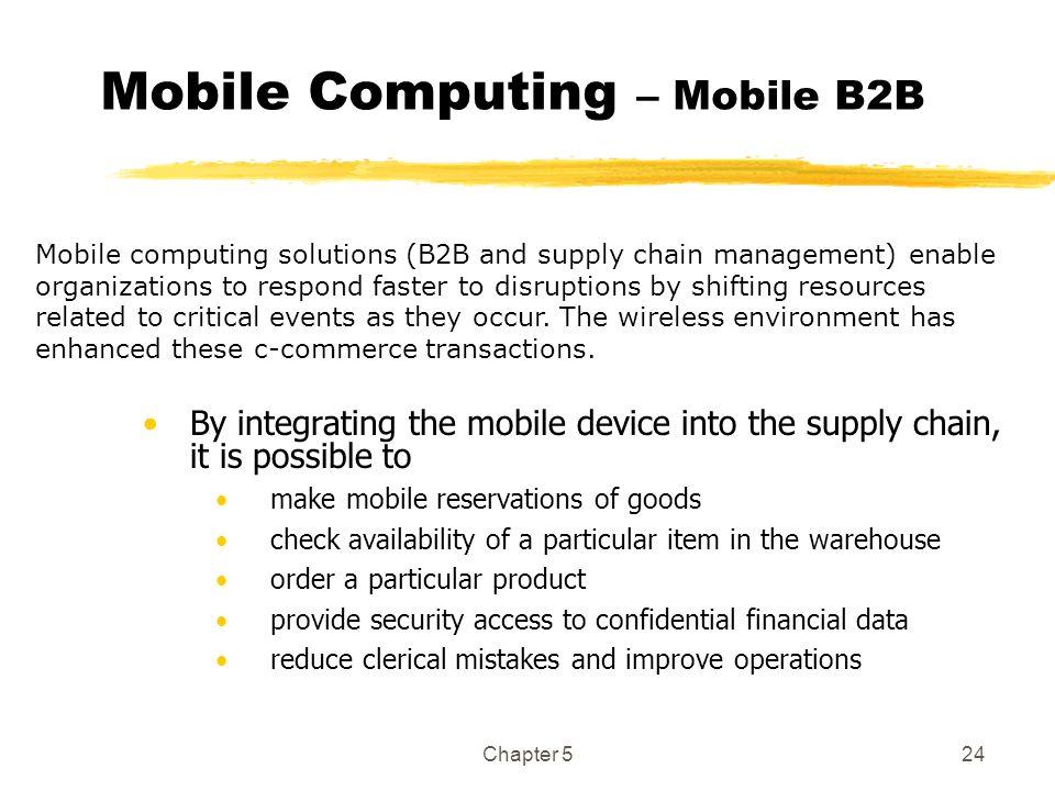 Mobile Computing – Mobile B2B